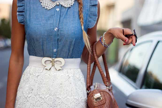 Jeans-and-bodice